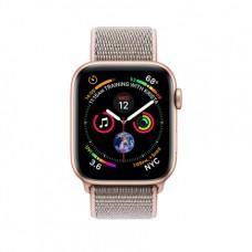 Apple Watch Series 4 GPS + Cellular, 44mm, корпус из алюминия золотого цвета, спортивный браслет (Sport Loop) цвета «розовый песок»