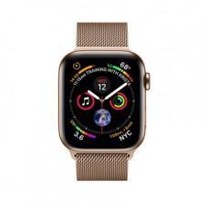 Apple Watch Series 4 GPS + Cellular, 40mm, корпус из стали золотого цвета, миланский сетчатый браслет золотого цвета