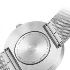 Классические наручные часы Xiaomi TwentySeventeen Белый циферблат / Серебристый браслет