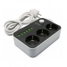 Сетевой удлинитель LDNIO SE3631 (6 USB, 3 Розетки, 1.6 м)