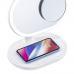 Зеркало-светильник Momax Q.Led с беспроводной зарядкой и Bluetooth динамиком