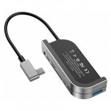Хаб 6-в-1 Baseus Bolt для iPad Pro (USB 3.0, 4K HDMI, micro SD, SD, USB-C, 3.5mm)