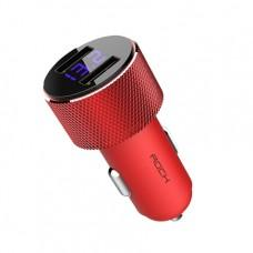 Автомобильное ЗУ ROCK Sitor Car Charger with Digital Display 2 USB 3A