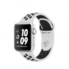 Умные часы Apple Watch Series 3 Nike+ GPS, 42mm , корпус из серебристого алюминия, спортивный ремешок Nike цвета «чистая платина/чёрный»