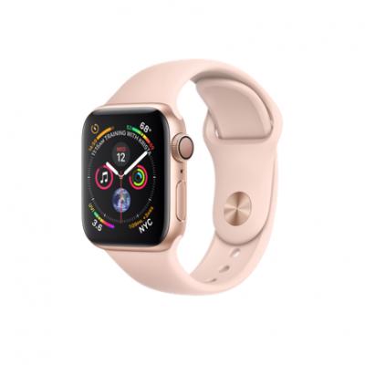Apple Watch Series 4 GPS, 40mm, корпус из алюминия золотого цвета, спортивный ремешок цвета «розовый песок»