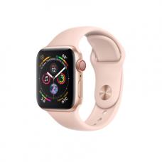 Apple Watch Series 4 GPS + Cellular, 40mm, корпус из алюминия золотого цвета, спортивный ремешок цвета «розовый песок»