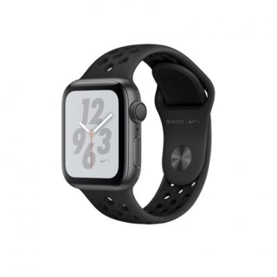 Apple Watch Series 4 Nike+ GPS, 40mm, корпус из алюминия цвета «серый космос», спортивный ремешок Nike цвета «антрацитовый/черный»
