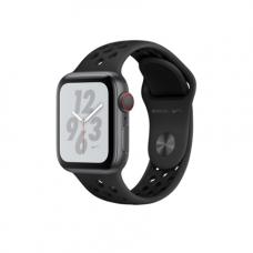 Apple Watch Series 4 Nike+ GPS + Cellular, 40mm, корпус из алюминия цвета «серый космос», спортивный ремешок Nike цвета «антрацитовый/черный»