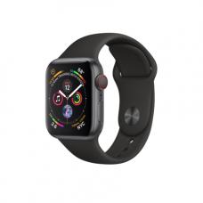 Apple Watch Series 4 GPS + Cellular, 40mm, корпус из алюминия цвета «серый космос», спортивный ремешок черного цвета