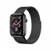 Apple Watch Series 4 GPS + Cellular, 44mm, корпус из стали цвета «черный космос», миланский сетчатый браслет цвета «черный космос»