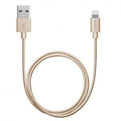 Кабель MFi с нейлоновой оплёткой Deppa Alum Lightning/USB (1,2 м)