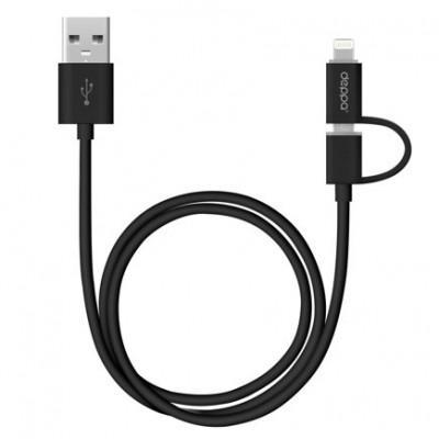 Кабель 2 в 1 Deppa Lightning + Micro-USB/USB (1,2 м)