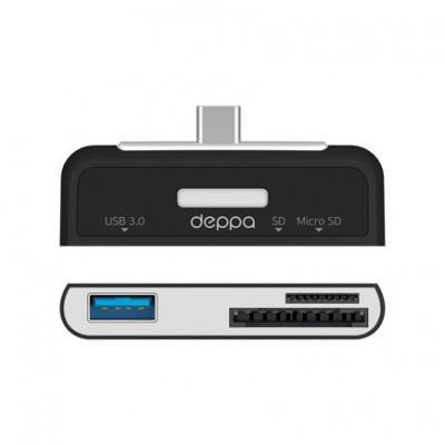 Переходник Deppa Type-C – SD/micro SD + USB 3.0