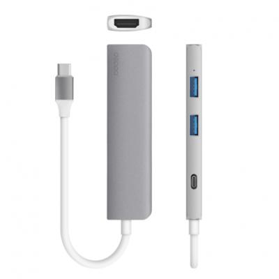 Многопортовый хаб Deppa Adapter Type-C – USB + HDMI