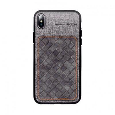 Чехол ROCK TPU PU Leather Protection Patchwork Case для iPhone XS Max