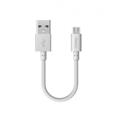 Дата-кабель с нейлоновой оплёткой Deppa Alum Micro-USB/USB (15 см)