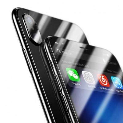 Комплект защитных стекол на переднюю и заднюю панель Baseus Screen Protector Colored Glass Film Set для iPhone XS Max