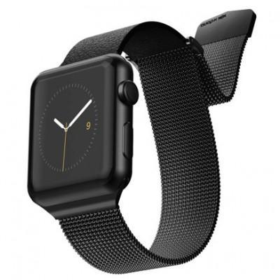 Ремешок из кожи и нержавеющей стали X-Doria Hybrid Mesh Band для Apple Watch 42/44 mm
