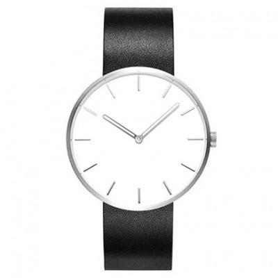 Классические наручные часы Xiaomi TwentySeventeen Белый циферблат / Черный браслет