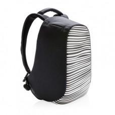 Рюкзак с защитой от кражи XD Design Bobby Compact Print Черно-белая полоска