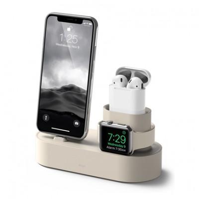 Зарядная станция из силикона 3 в 1 Elago Charging Hub для iPhone, Apple Watch и AirPods