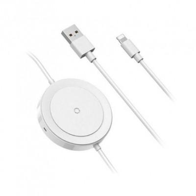 Подставка для беспроводной зарядки со встроенным кабелем Baseus iP Cable Wireless Charger Lightning/USB (1,25 м)