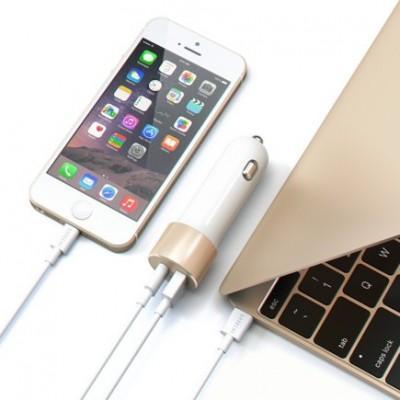 Автомобильное ЗУ Satechi 48W Car Charger Adapter USB + Type-C