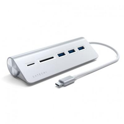 Хаб Satechi Type-C USB Hub & Micro/SD Card Reader 5-в-1, Type-C ST-TCHCR