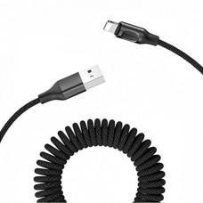 Витой кабель ROCK Stretchable Change Sync Cable Lightning/USB (1,5 м)