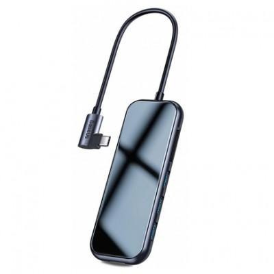 Хаб Baseus Mirror Series - USB-C (PD), USB 3.0 x3, HDMI 4K, SD/TF