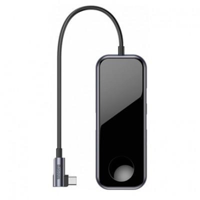 Хаб Baseus Mirror Series c зарядкой для Apple Watch - USB-C (PD), USB 3.0 x2, HDMI 4K, 3.5mm