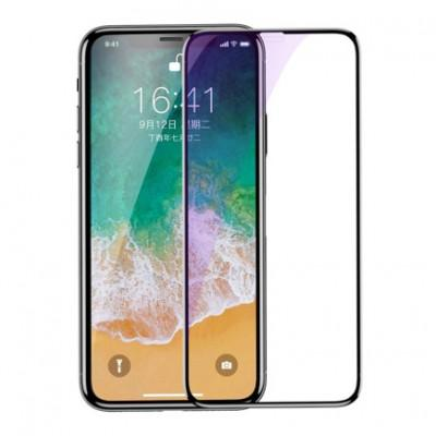 Защитное стекло Baseus Full Coverage Tempered Glass Anti-Bluelight Screen Protector для iPhone XS Max / 11 Pro Max