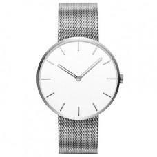 Кварцевые часы Xiaomi Twenty Seventeen Beautiful Silver Белый циферблат / Серебристый браслет