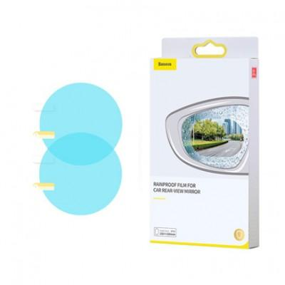 Baseus 0.15mm Rainproof Film For Car Rear-View Mirror Round 80x80mm 2шт