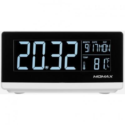 Цифровые часы с беспроводной зарядкой Momax Q.Clock