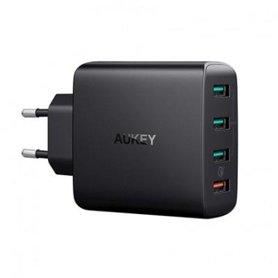 Сетевое ЗУ Aukey PA-T18 (USB 3.0 QC, 3xUSB 2.4A, 42W Max)