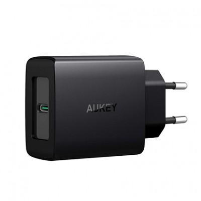 Сетевое ЗУ Aukey PA-Y7 (USB-C, 29W Max) с переходником на 2 USB-A