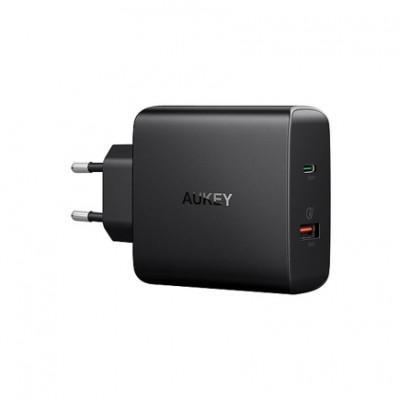 Сетевое ЗУ Aukey PA-Y11 (USB-C PD 30W, USB 3.0 QC)