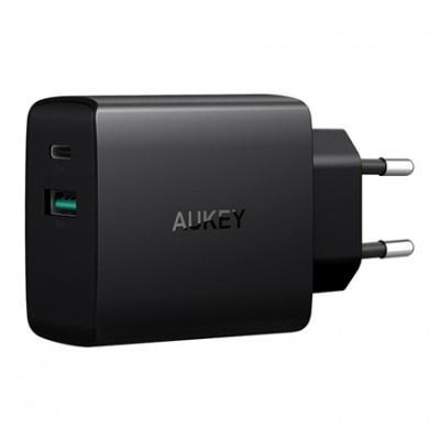 Сетевое ЗУ Aukey PA-Y9 (USB-C 3A, USB 2.4A)
