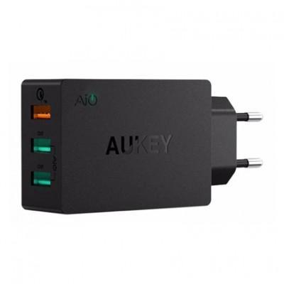 Сетевое ЗУ Aukey PA-T14 (2xUSB 2.4A, USB 3.0 QC)