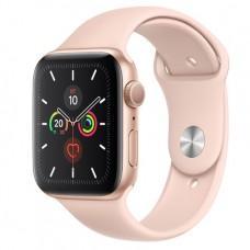Apple Watch Series 5 GPS, 40mm, корпус из алюминия золотого цвета, спортивный ремешок цвета «розовый песок»