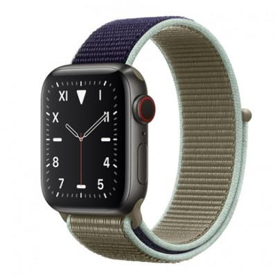 Apple Watch Series 5 Edition GPS + Cellular, 40mm, корпус из титана, спортивный браслет (Sport Loop) цвета «лесной хаки»