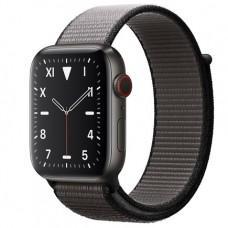 Apple Watch Series 5 Edition GPS + Cellular, 44mm, корпус из титана цвета «черный космос», спортивный браслет (Sport Loop) цвета «тёмный графит»