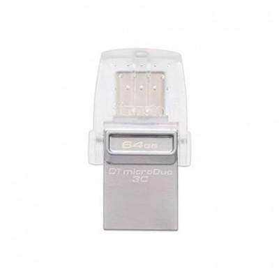 Флеш накопитель Kingston 64Гб DataTraveler microDuo 3C USB 3.0- Type-C