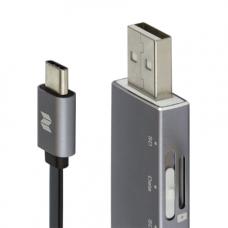 Кабель + кардридер ROCK USB-C/USB MicroSD OTG Reader (25 см)